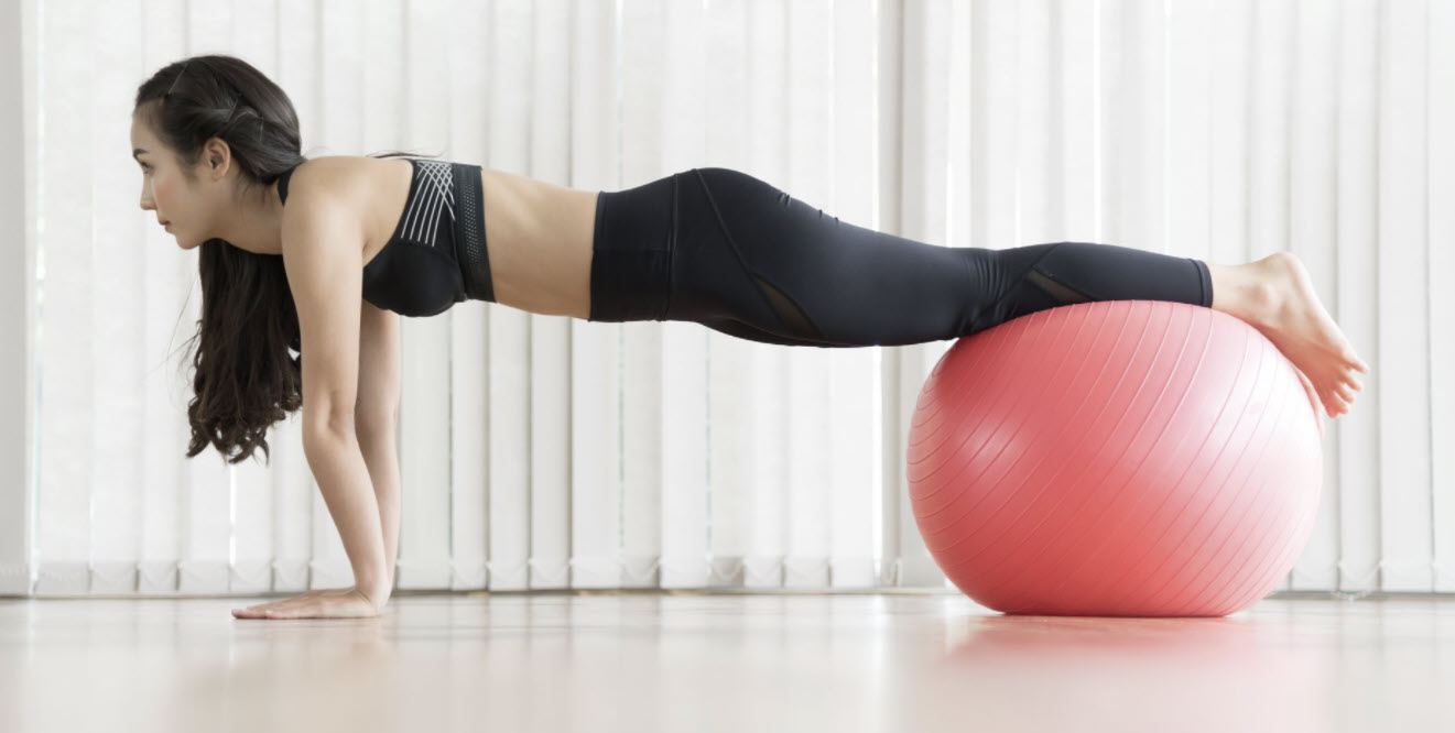 On the ball plank
