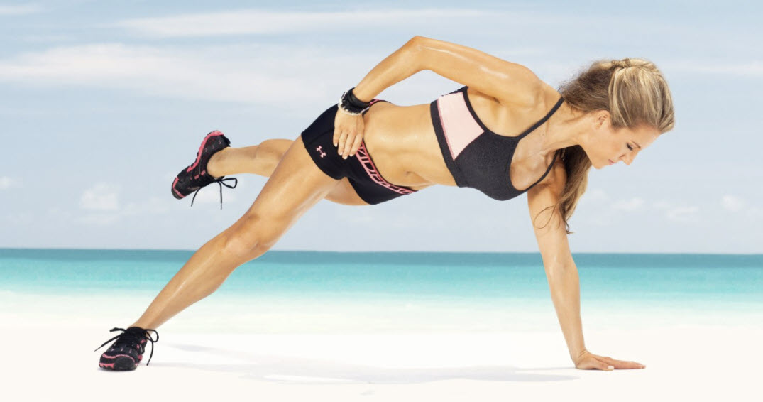 PLank with elbow lift